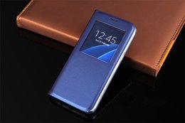 Wholesale Official Windows - Official Style Leather Case Cover For Samsung Galaxy Note 7 S7 Edge New Arrival Window View