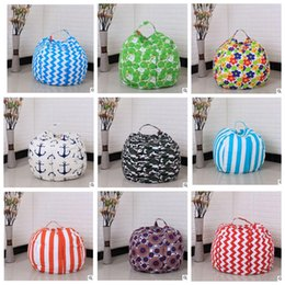 Wholesale clothing storage - 35 color 26 inch Kids Storage Bean Bags Plush Toys Beanbag Chair Bedroom Stuffed Animal Room Mats Portable Clothes Storage Bag KKA3330