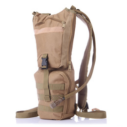 Wholesale Water Bladder Pouch - 3L Portable Hydration Army Packs Camo Tactical Bike Bicycle Camel Water Bladder bag Assault Backpack Camping Hiking Pouch