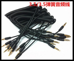 Wholesale Extension Hdmi Male Female - 3.5mm Male to Male M M Plug Jack Stereo Headphone Audio Coiled Fluoro AUX Extension Cable Replacement Spring for Car Speak iPhone