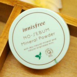 Wholesale Mineral Foundation Matte - Innisfree No Sebum Mineral Powder Matte loose Powder 5g Ruptured Foundation Fixed make up Honey Powder Cosmetic Stage Makeup