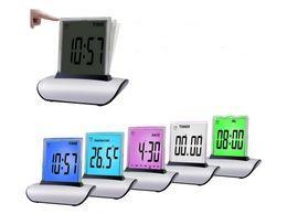 Wholesale Led Timers Clocks - 7 LED New Digital Calendar Electronic Timer Alarm Clock Thermometer Hot Sell 80pcs lots