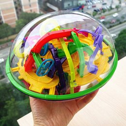 Wholesale Plastic Marbles Balls - 299 level 3D Magic Maze Ball perplexus magical intellect ball educational toys Marble Puzzle Game perplexus balls IQ Balance toy