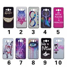 Wholesale Galaxy Owl Case Mini - For Galaxy A710 A510 A310 S7 edge J1 MINI   J710 J510 Pug Eye Dandelion Mad Dreamcatcher Flower Smile Owl Hard PC Case Back Cover Skin