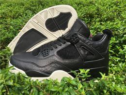Wholesale Hair Threading Spring - Brand Hot Sale Retro 4 IV Premium Dark Horse Basketball Shoes Premium Black Pony Hair Pinnacle Trainers Sneakers Athletics Footwears