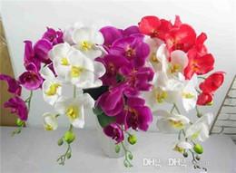 orchidea all'ingrosso Sconti Maggiore di colla Simulazione di alta qualità Farfalla Orchidea Orchidea Fiore finto Fiore di simulazione Produttori diretti all'ingrosso Flusso artificiale