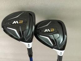 Wholesale Graphite Shaft Regular Flex - Golf clubs M2 Fairway woods 3# 5# Regular flex Graphite shaft 2PCS M2 Golf Woods Come headcover