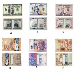 Wholesale Paper Money Holders - Various Countries Paper Money Wallet Fashion Men Dollar Purse Wallet Card Holders Children Kids Gift CCA8004 50pcs