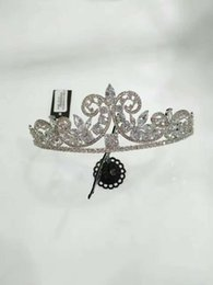 Wholesale Tiaras Coral - Fashion Cheap Crowns For Girls Party Wedding Hair Wedding Shining Crowns Jewelry Crown