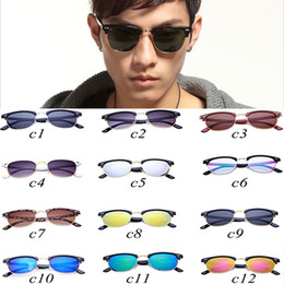 Wholesale Wholesale Framing Nails - sunglasses for men Rice nail sunglasses semi-metallic men's ladies fashion beach vacation wild sunglasses Comfortable to wear comfortable