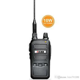 Wholesale Icom Handhelds - 2 pcs 10W Transceiver T-989 UHF Walkie Talkie Ham Radio Waterproof Handheld Two Way Radio CB radio KENWOOD YAESU ICOM HYT YAESU Quality