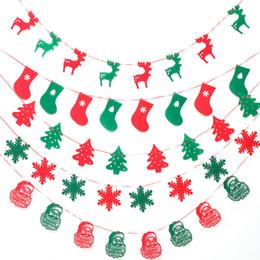Wholesale Window Tree - Christmas supplies shop window decorations Merry Christmas Santa Claus Christmas tree non-woven creative pendant free shipping