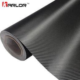Wholesale Car Wrap Vinyl Animal - 30cmx127cm 3D Carbon Fiber Vinyl Car Wrap Sheet Roll Film Car stickers and Decals Motorcycle Car Styling Accessories Automobiles