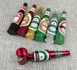 Wholesale Mini Herb - New Arrive 83mm Mini pipe Pipes Portable beer bottle Smoking Pipe Herb Tobacco Pipes