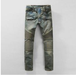 Wholesale Yellow Jeans For Boys - Fashion Runway Biker Jeans Mens New Arrival Design Slim Fit Jeans For Men Good Quality Blue Black Casual Denim Pants Boy Skinny Jeans
