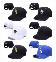 Wholesale Pop Red - New Brand Adjustable LA Baseball Caps Bone Strapback Bones Snapback Caps Snap Back Casquette Gorras Basketball Hip Pop cap for Men Women