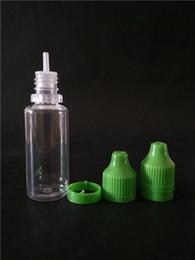 Ejuice garrafa de plástico pet garrafa de 15 ml atacado criança segurança inviolável selo dropper e-líquido garrafa fábrica venda garrafa de