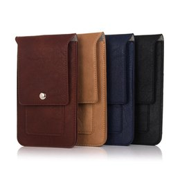 Wholesale Iphone Coloured Wallet Cover - Newest Luxury Outdoor Double Carabiner Pockets Bag Phone Cases For iPhone 8 7 7 Plus 4 Colours Cover Hook Belt Pouch Holster 6.3 inch