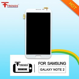 Wholesale Note Lcd Screen Replacement - for Samsung Galaxy Note2 7102 7100 7108 7105 original LCD display screen digitizer replacement high quality free shipping