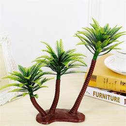 Wholesale Island Decoration - Artificial Coconut Palm Tree Micro Plastic Landscape Sandbox Style Palm Island Artificial Plant Decoration Coconut Pa Christmas