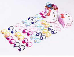 Wholesale Hair Products Girls - 2017 New products TS1199 rubber band cute children's hair ring 40 hairpin baby headdress girl hair tie