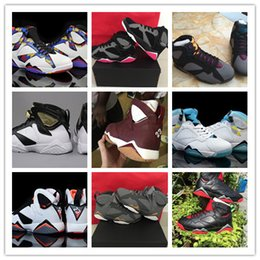 Wholesale Good Pig - Hot Air Retro 7 VII BORDEAUX CHAMPAGNE CIGAR NOTHING BUT NET SPORT FUCHSIA N7 GG MARVIN THE MARTIAN Wholesale Good Quality Size 5.5 13