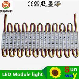 Wholesale Letters Led Lights - LED module light lamp SMD 5050 waterproof LED modules for sign letters LED back light SMD5050 20pcs 3 led DC12V IP65 free shipping