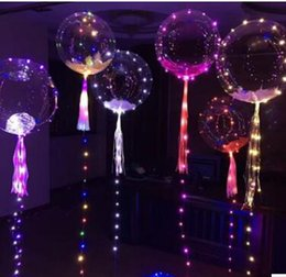Wholesale Helium Light Balloons - Light Up Toys LED String Lights Flasher Lighting Balloon wave Ball 18inch Helium Balloons Christmas Halloween Decoration best gift