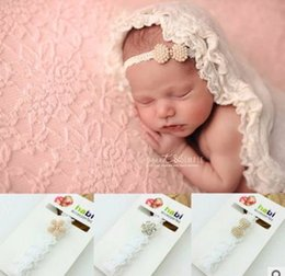 Wholesale Head Photo - Baby Headbands Pearl Diamond Infants Head Band Children Hair accessory Kids Girls Accessories Baby Photo Props