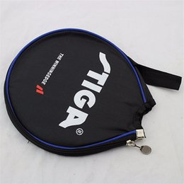 Wholesale Paddle Bat - Table Tennis Racket Case Ping Pong Accessories Round Ping Pong Paddle Bat Bag Blades Protector for Table Tennis Holder Bags