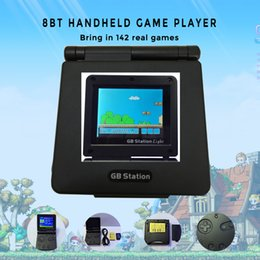 Wholesale Gb Boy - GB Station Licht boy SP PVP Retro Mini Handheld Game Speler ingebouwde 142 Games Draagbare Video Console 2.7 '' LCD NES Games PXP3 PVP PSP