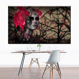 ZZ706 moderne toile abstraite art femmes africaines fleur toile huile art peinture mur photos pour décoration chambre salon Prix: ? partir de fabricateur
