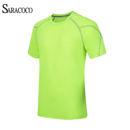 Wholesale Uv Protection Shirts - Wholesale-UV-Protection Coolmax Camping Hiking Sport T Shirt Men 2016 Quick Dry Outdoor Sports Fishing Hiking Clothes Breathable T-shirts
