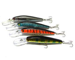 Wholesale Deep Diving Lures - 30pcs lot 4 colors 12.5cm 14g 4# high hook rate Minnow fishing lures deep diving fishing hard bait (MI053)