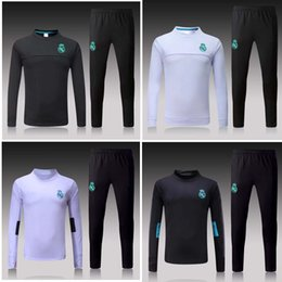 Wholesale Track Suits Jackets - Thai 17 18 Real Madrid soccer Tracksuit RONALDO ASENSIO Track suits jacket 2017 2018 Real Madrid chandal training suits sports wear