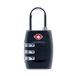 Wholesale Free Color Codes - Free shipping TSA Resettable Combination Luggage Black Color 3 Digit Suitcase Customs Code Safe Travel Lock