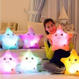 2019 moomin hülle Buntes Stern-Glühen LED leuchtendes helles Kissen Cojines reizendes weiches Almofada Lächeln-Stern-blinkende Kissen geben Verschiffen frei