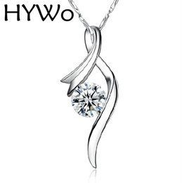 Wholesale Purple Cubic Zirconia Necklace - Charming Jewelry Retro Vintage White purple 925 sterling silver Natural Crystal Woman Pendant Necklace (without chain) wholesale
