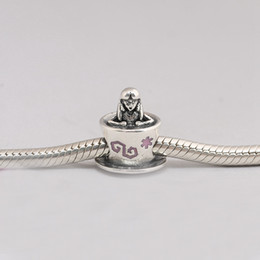 Wholesale Wonderland Bracelet - 925 Sterling Silver Beads Alice In Wonderland Teacup Fantasyland Charms Fits European Pandora Style Jewelry Bracelets Necklace