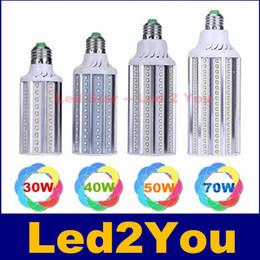 Wholesale E26 Led Light Corn - 2016 Super Bright 30W 40W 50W 70W Led Bulbs E27 E26 E39 E40 SMD 2835 Led Corn Lights Led Pendant Lighting AC 110-240V