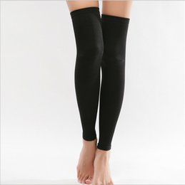 Wholesale Hot Nylon Leg - Wholesale-Hot Sale New Thin Leg Calves Shaper Burn Fat varicose veins Socks Compression Stovepipe Socks Leg Warmers AT381
