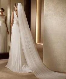 Wholesale Veil Supplies - Wholesale hot sell Bridal wedding supplies Bridal veil with comb Three-tier trailing long 3 m soft veil TS927