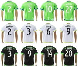Wholesale Flashing Shirts - Seattle Sounders Jersey Soccer Club 2 DEMPSEY 3 EVANS 6 ALONSO 9 MARTINS 17 YEDLIN Football Shirt 10 PAPPA 14 MARSHALL 19 BARRETT 27 NEAGLE