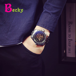 Wholesale Military Form - Swiss stainless steel with hollow automatic mechanical watch large dial men's watches sports waterproof students military table male form