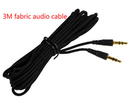 2019 rca aux cordon New Woven Universal Long 3m 5m 7m Noir 3.5mm audio jack mâle à 3.5mm audio mâle stéréo câble cordon pour mp3 ipod haut-parleur audio accès