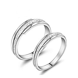 Wholesale Chain Certificates - [gift certificate] couple rings 925 Sterling Silver Ring frosted male male ring retro agreed lifetime