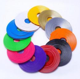 Wholesale Hot Glue Strips - 2015 Hot Sale 8M Roll Car Wheel Hub Tire Sticker Car Decor Styling Strip Wheel Rim Tire Protection Car Covers Auto Accessories