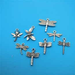 Wholesale tibetan jewelry accessories wholesale - Mixed Tibetan Silver Dragonfly Charms Pendants Jewelry Making Bracelet Necklace Fashion Popular Jewelry Findings &Component Accessories V148