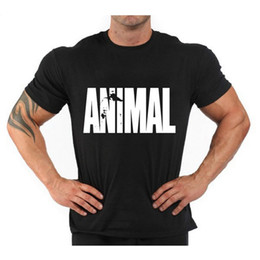 Wholesale Vest Short Sleeve Shirt - Animal Gym Men T Shirt Stringer Mens Singlets Bodybuilding Vest Fitness Short Sleeve Shirt Sports Man Clothes