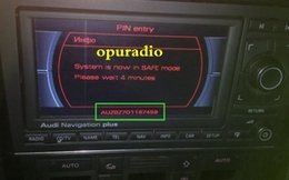 Wholesale Unlocked Services - Audi Car Radio Unlock Decode Service for AUDI A3 A4 RNS-E Plus car navigation radio